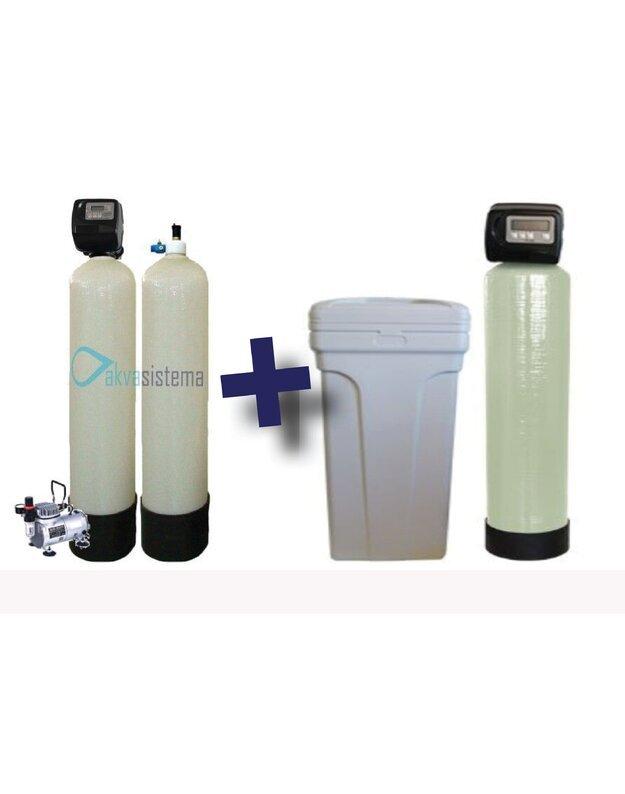 Komplektas: automatinis nugeležinimo filtras PR AIF 150 PM ir vandens minkštinimo filtras SOFT 30